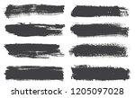 set of grunge lines .vector... | Shutterstock .eps vector #1205097028