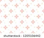 flower pattern for decorating... | Shutterstock .eps vector #1205106442