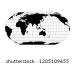 world map in robinson... | Shutterstock .eps vector #1205109655