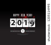new year countdown layout cover.... | Shutterstock .eps vector #1205114995