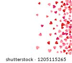 red flying hearts bright love... | Shutterstock .eps vector #1205115265