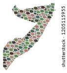mosaic map of somalia composed... | Shutterstock .eps vector #1205115955