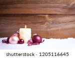 candle and christmas... | Shutterstock . vector #1205116645