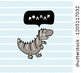 cartoon tyrannosaurus rex. t... | Shutterstock .eps vector #1205117032