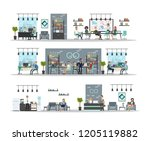 office interior building with... | Shutterstock . vector #1205119882