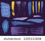 paint lines grunge collection.... | Shutterstock .eps vector #1205121838