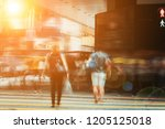 walking people on the busy city ...   Shutterstock . vector #1205125018