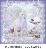 Winter Fantasy Unicorn Scenery...