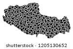 mosaic map of tibet chinese... | Shutterstock .eps vector #1205130652