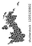 mosaic map of united kingdom...   Shutterstock .eps vector #1205130802