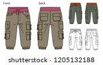 vector illustration of cargo... | Shutterstock .eps vector #1205132188