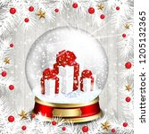 christmas background with white ...   Shutterstock .eps vector #1205132365