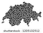 mosaic map of swissland...   Shutterstock .eps vector #1205132512