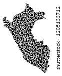 mosaic map of peru created with ...   Shutterstock .eps vector #1205133712