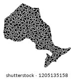 mosaic map of ontario province...   Shutterstock .eps vector #1205135158