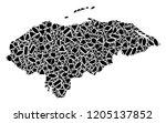 mosaic map of honduras designed ...   Shutterstock .eps vector #1205137852