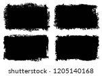 vector grunge banners.grunge... | Shutterstock .eps vector #1205140168