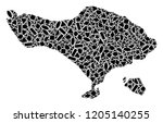 mosaic map of bali island...   Shutterstock .eps vector #1205140255