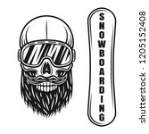 snowboarding vector objects or... | Shutterstock .eps vector #1205152408