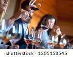 sommeliers at the winery | Shutterstock . vector #1205153545