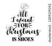 all i want for christmas  ... | Shutterstock .eps vector #1205159242