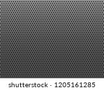 perforated gray metal plate... | Shutterstock .eps vector #1205161285