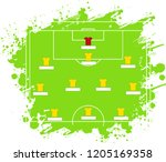 soccer tactic table. vector... | Shutterstock .eps vector #1205169358