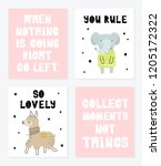 vector poster collection with... | Shutterstock .eps vector #1205172322