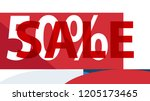 special sale banner or sale... | Shutterstock .eps vector #1205173465