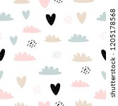 vector seamless pattern with... | Shutterstock .eps vector #1205178568
