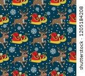 seamless pattern for christmas... | Shutterstock .eps vector #1205184208