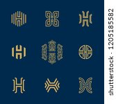 letter h logo collection.... | Shutterstock .eps vector #1205185582