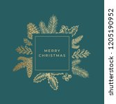 merry christmas abstract... | Shutterstock .eps vector #1205190952