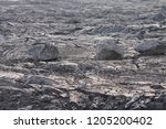 close up of vulcano lava in...
