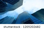 modern building office and blue ... | Shutterstock . vector #1205202682