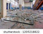 destroyed office building | Shutterstock . vector #1205218822
