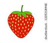 stawberry vector icon isolated  | Shutterstock .eps vector #1205218948