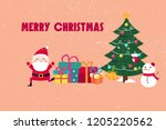 merry christmas and card | Shutterstock . vector #1205220562