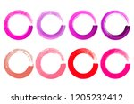 set of watercolor color circles ... | Shutterstock .eps vector #1205232412