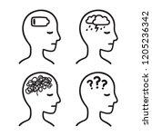 mental health symptoms ... | Shutterstock .eps vector #1205236342