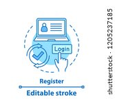 registration concept icon.... | Shutterstock .eps vector #1205237185