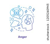 anger concept icon. wrath.... | Shutterstock .eps vector #1205260945