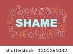 shame word concepts banner.... | Shutterstock .eps vector #1205261032