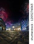 celebration city background... | Shutterstock . vector #1205276065