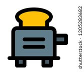 electrical automatic toaster | Shutterstock .eps vector #1205283682