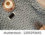 autumn season concept of cozy... | Shutterstock . vector #1205293642