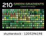 mega green gradient set. 210...