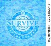 survive sky blue emblem with... | Shutterstock .eps vector #1205302048
