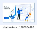 landing page template of... | Shutterstock .eps vector #1205306182
