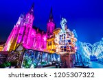 Mulhouse, France - Traditional Christmas Market, Marche de Noel city in Alsace.